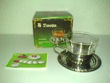 WMF Baroque Teegedeck für 1 Person Teeglas Teetasse Cromargan * Unbenutzt in OVP