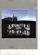 #4384 42c Civil Rights Pioneers USPS#0908 Souvenir Page