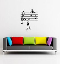 Wall Sticker Music Notes Funny Guys for Living Room z1254