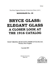 Bryce Glass-Reprint of 1916 Catalog-Stemware, Etchings