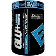 EVL Nutrition GLU+ Blue Raz  - Enhanced Glutamine (45 Servings) Best By 09/2017
