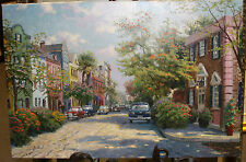 Thomas Kinkade Rainbow Row, Charleston 18x27 A/P -RARE- -SIGNED-