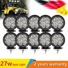10X27W 9 LED LUCE FARO LAMPADA DA LAVORO Tondo OFFROAD 12V 24V CAMION AUTO BARCA