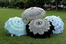 5 PC Wholesale Lot Parasol Indian Mandala Sunshade Garden Umbrella Outdoor Patio