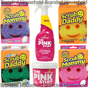 SCRUB DADDY SCRUBBER SPONGE PINK STUFF MIRACLE CLEANER PASTE SPRAY MINKY M CLOTH