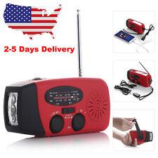 Emergency AM/FM/WB Weather Radio Solar Hand Crank LED Flashlight Charger