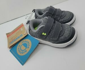 Stride Rite Surprize Norman Baby Boys Gray Sneakers Shoes  - Size 3  - NEW