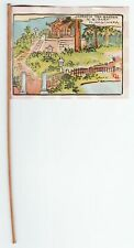 RARE Japanese Tea Garden Mini Flag Print Golden Gate Park CA ca 1915 - Hagiwara