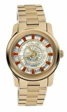 Michael Kors MK 5729 Runway Gold Crystals Glitz Stainless Watch New with Box
