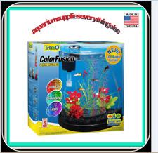 Tetra ColorFusion Starter aquarium Kit 3 Gallons, Half-Moon Shape, With Bubblier