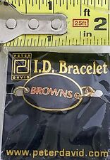 CLEVELAND BROWNS - Gold Tone Peter David I .D. Bracelet - NFL Football - NWT1999