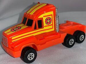 Vintage 1990 Buddy L Plastic Rescue Truck Semi Mack Cab Replacement Orange