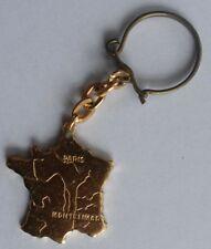 Porte-clé clef motif : Carte de France - nougat de Montélimar - Coupo Santo