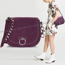 ORG Rebecca Minkoff Leather /suede Blackberry Saddle Bag Crossbody