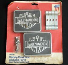 NOS Vtg Harley Davidson Saddlebag Guard Medalion 1978 LATER-FLH 90974-79 1/81