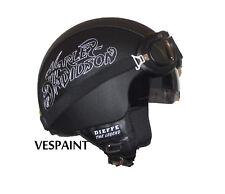 Casco Harley Davidson ecopelle visiera interna personalizzato in pelle s m l xl