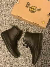 Dr. Martens Leyton sz 8 Women's Leather Casual Boots Black Game On 14687001 $90