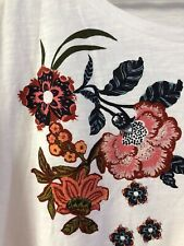 ANN TAYLOR LOFT OUTLET Womens Extra Large Short Sleeve Floral Print T Tee Shirt