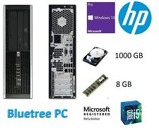 HP 8100 Elite SFF Core I5 @3.3G 8GB RAM 1TB HDD W10 Pro WiFi Desktop Computer PC