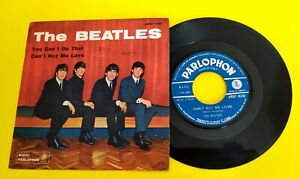 "THE BEATLES (45 RPM - ITALY) QMSP 16361  ""CAN'T BUY ME LOVE"" (TOP-RARE 1° ISSUE)"