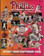 NLCS BASEBALL 1993 Official Program PHILLIES VS. REDS