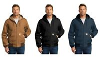 Carhartt Men's Thermal-Lined Duck Active Jacket Black Brown Navy Blue FREE SHIP