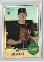 2017 Topps Heritage Ty Blach Chrome Refractor Rookie /568 No. 659