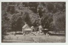 1910 Postcard Viroqua, Wisconsin Maple Dale Hose and Barn in Front