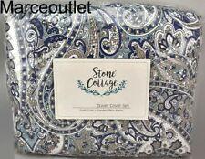 Stone Cottage Lancaster Cotton Full / Queen Duvet Cover & Shams Set Blue
