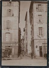 France, Nice, Ruelle et Quai du Port, ca.1900, Vintage citrate print Vintage cit
