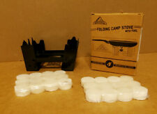 Folding Backpack Camp Stove W/ 24 Fuel Tablets  Camping Survival
