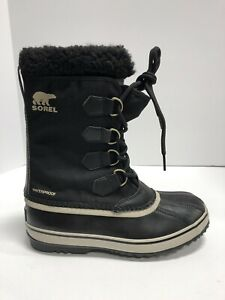 Sorel Men's 1964 Pac Nylon, Waterproof Winter Boots-Black, Size 7M.