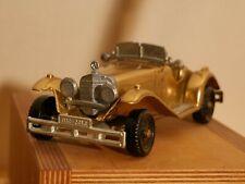 Mercedes Benz SSK 1928 Modellauto Messing Ca. 18 cm vergoldetet Fahrzeug Italien