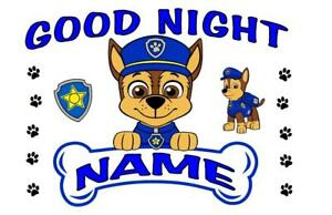 PAW PATROL PILLOWCASE Personalized Your Choice CHASE MARSHALL SKYE RUBBLE