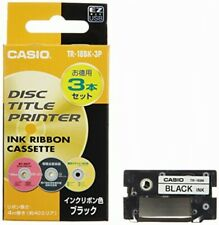 CASIO disc title printer TR-18BK-3P black ink ribbon three 809199910943