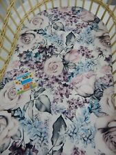 Floral Bassinet Fitted Sheet Roses Ciara 100% Cotton  FITS STANDARD BASSINET