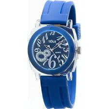 "Tocs ""Crystal 8"" Analog Round Watch Marine Blue - 40118"
