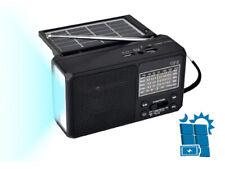 QFX R-37 3-In-1 Rechargeable AM/FM/SW1-SW4 6-Band Solar Radio +Flashlight+USB/SD