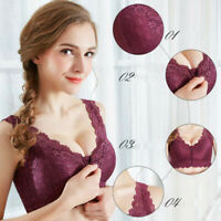 Women's Adjustable Front Closure Extra-Elastic Large Wire-Free Sleep Lace Bra
