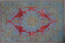 Antique Handmade Overdyed Distressed Rug 295 x 192cm