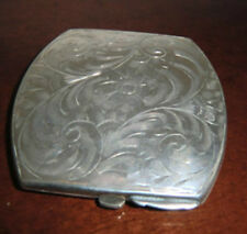 Antique Silver Art Nouveau Compact Powder Case Hallmarked sterling BIRKS