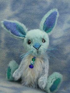 "6"" OOAK Sweet Little Mohair & Harris Tweed Artist Bunny Bear*Fionn*Bramber Bears"