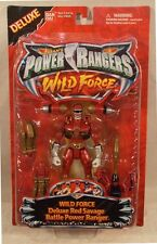 "Power Rangers Wild Force Deluxe 5"" Red Savage Battle Ranger Armor Transform MOC"