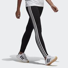 NEW WOMEN'S ADIDAS ORIGINALS 3-STRIPES LEGGINGS [CE2441]  BLACK // WHITE