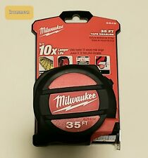 One New Milwaukee Tools 35 feet 48-22-5136 Tape Measure
