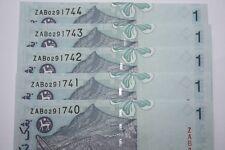 (PL) RM 1 ZAB 0291740-44 UNC 5 PCS 11TH SERIES MALAYSIA ZETI PAPER REPLACEMENT