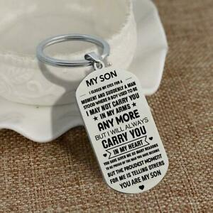 To My Grandson/Granddaughter/Son/Daught Keychain Keyring NEW E8Y5