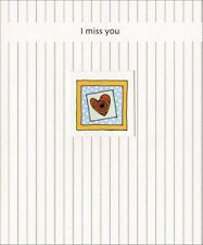 Heart in Square Window Miss You Card - Greeting Card by Freedom Greetings