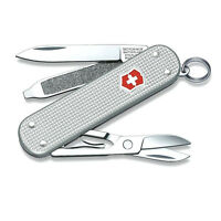 VICTORINOX SWISS ARMY KNIFE ALOX STAINLESS STEEL CLASSIC SD SMALL MINI METAL NEW