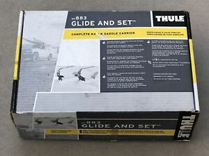 Thule 883 Glide and Set Complete Kayak Saddle Carrier For Car Top Rack